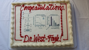 Hoku defends his thesis entitled Regulation of Non-muscle Myosin II. Congratulations, Dr. West-Foyle!
